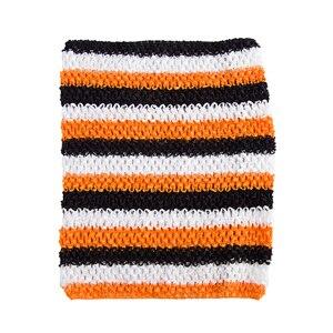 Вязаный топ-труба 9x10 дюймов, топ-пачка для маленьких девочек, вязаная юбка-американка топ-пачка, вязаная крючком повязка на голову, смешанные цвета, 10 шт. в партии - Цвет: Halloween 10pcs