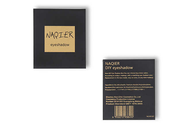 NAQIER fard à paupières maquillage ombre à paupières unique bricolage couleur personnalisée mat minéral fard à paupières palette paillettes ombres pallete