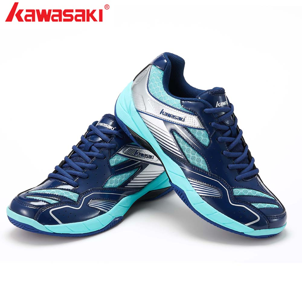 Kawasaki Badminton Shoes Men Tennis Sneakers Anti-Slippery PU Leather Breathable Man Sports Shoes squash Lace Up shoes K-159 image