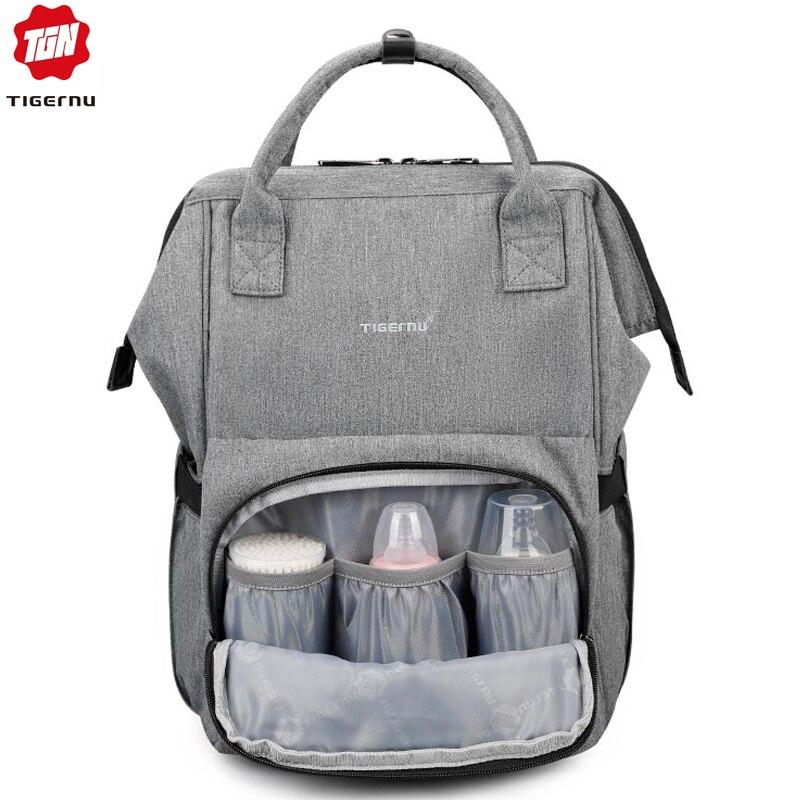 644ef14f9492 Tigernu мама пеленки мешок большая емкость Детские Пеленки сумки кормящих  сумка мода путешествия Для женщин рюкзак сумка для мамы и папы купить на ...