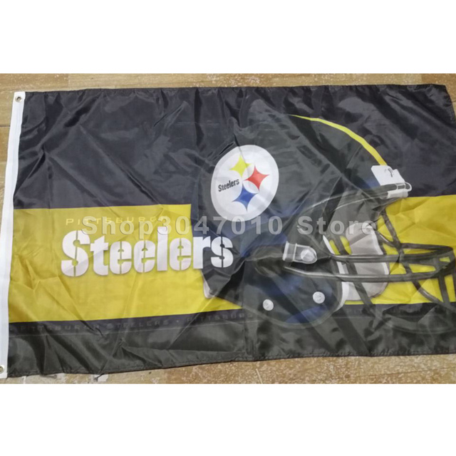 73bfc857 150x90cm 100d POLYESTER FLAG WITH Pittsburgh Steelers HELMET banner 3ft x  5ft -in Flags, Banners & Accessories from Home & Garden on Aliexpress.com |  ...