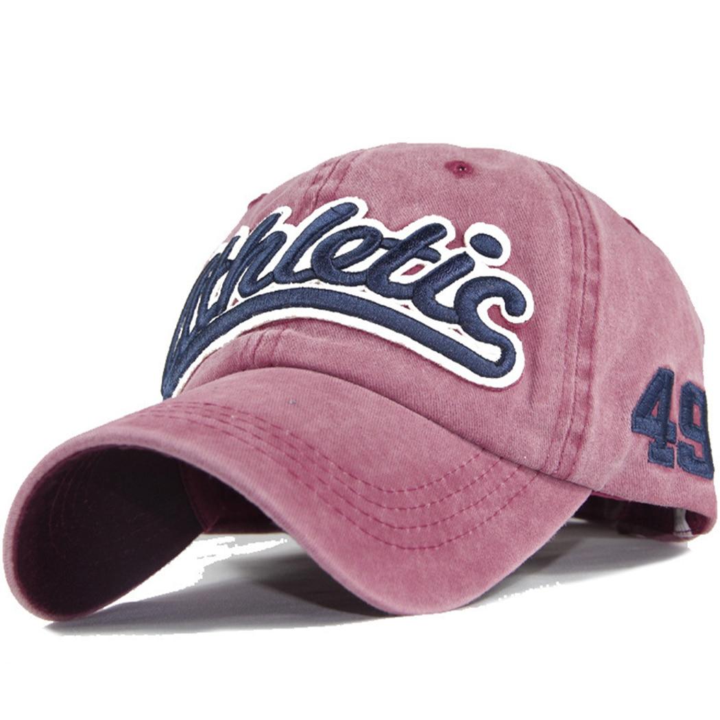 Vintage Washed Letter Embroidery Womens Baseball Cap Mens Snapback Hats Denim Casquette Dad Hat Hip Hop Trucker Caps Gorras