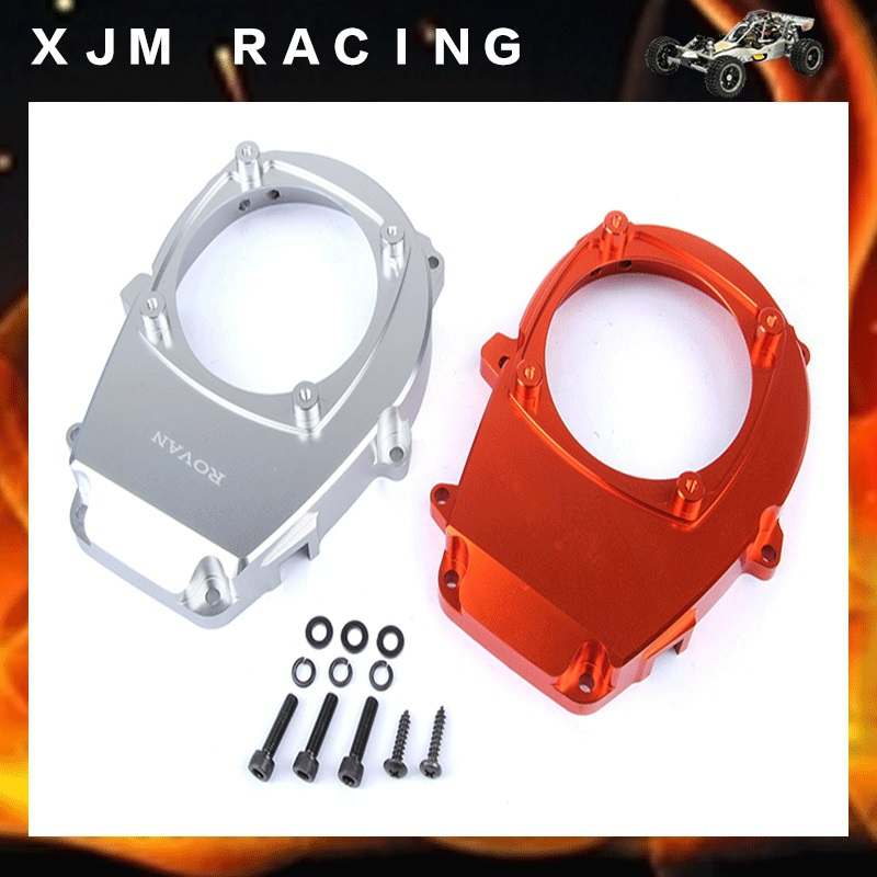 CNC - Alloy Engine Fan Cover for 1/5 scale hpi rovan Baja 5B silver/orange choose qqv6 aluminum alloy 11 blade cooling fan for graphics card silver 12cm