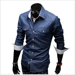 Mens Fitted Denim Shirt | Artee Shirt