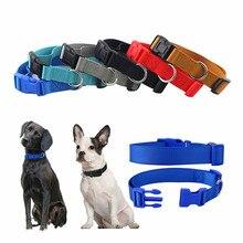 Oem Custom Luxury Personalized Logo Adjustable Blank Plain Nylon Pet Dog Collars