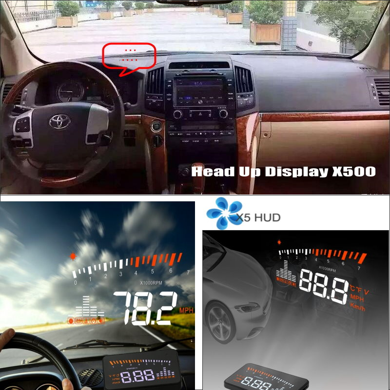 Liislee Car Computer Screen Display Projector Windshield For TOYOTA Land Cruiser LC 200 LC200 2008~ 2014 Safe Driving Screen Toyota Land Cruiser