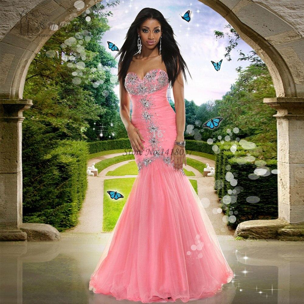 Africano de color rosa Vestido de Fiesta de Graduación Vestido de ...