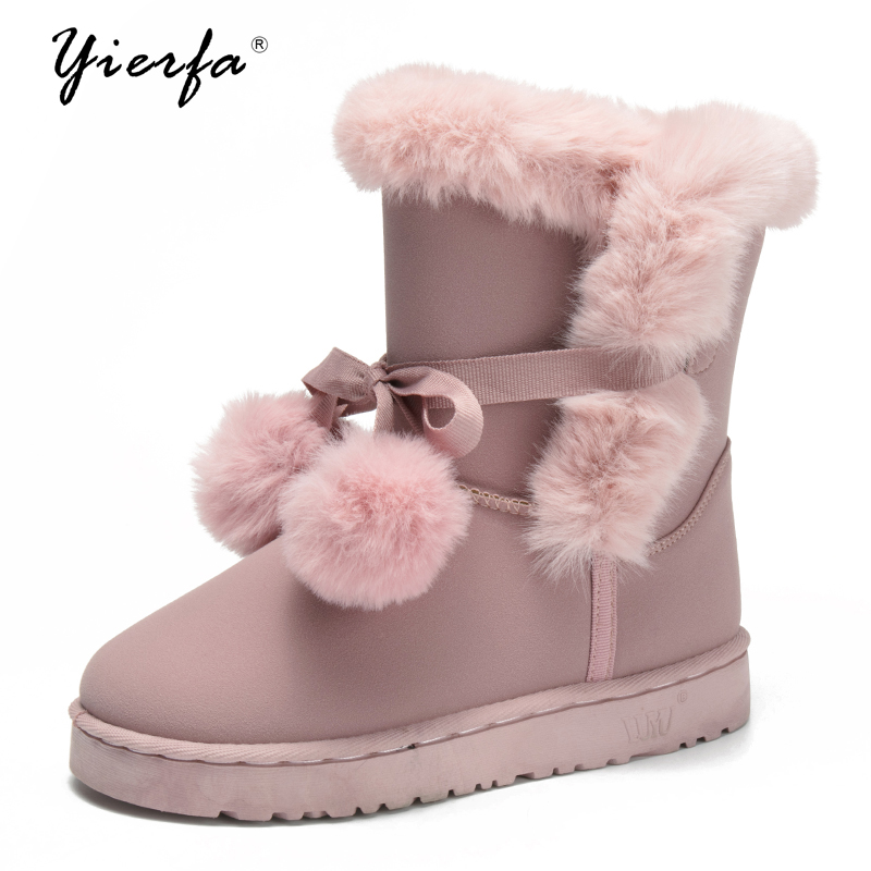 YEERFA snow boots fur wool winter warm shoes with models