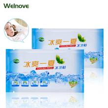 12Bags Lower Temperature Ice Gel Polymer Hydrogel Cooling Patch Adult Baby Fever Down Medical Plaster Migraine Headache PadD1840