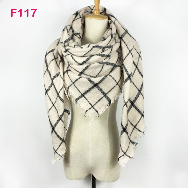 2017 Winter Brand   Scarf   Women Foulards Femme Square Blanket   Scarf   Plaid Cashmere   Scarf   Women Pashmina Shawls and   Scarf     Wraps