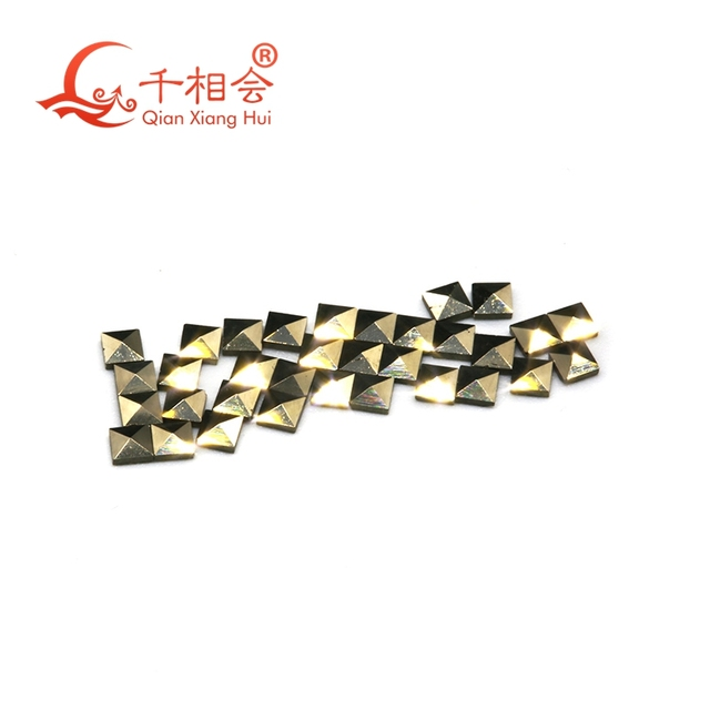 200pcs for one bag Square shape 1mm to 2mm natural  marcasite loose stone for jewlery making DIY