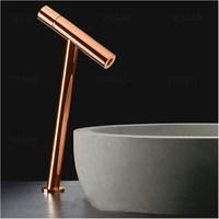 Новое поступление высокое качество, уникальный дизайн латунь хромированная латунь однорычажный горячей и холодной ванной Высокая раковин