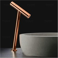 New arrival top high quality unique design brass chrome brass single lever Hot and Cold bathroom high sink faucet basin tap