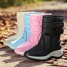 Women Snow Boots Casual Winter Boots Waterproof Warm Mid-Calf Boots Platform Wedges Heels Botas Women Shoes Plus Size 35-42 цены онлайн