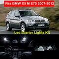 18pcs Super Bright White Error Free Canbus LED Interior Lights Package Kits for BMW X5 M E70 2007-2012