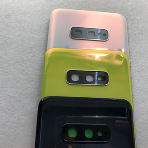 Image 5 - סוללה זכוכית כריכה אחורית עבור Samsung Galaxy S10e G970 G970F SM G970F אחורי דלת שיכון כיסוי עם מצלמה עדשה עמיד למים דבק