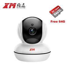Smart HomeWireless 1280*1080P 2.0MP IP Camera+64GB SD Card Pan/Tilt Night Vision Security Camera P2P CCTV Cam with IR-Cut