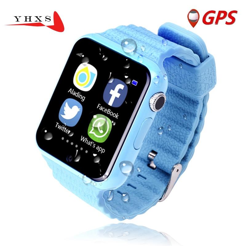 """imágenes para 1.54 """"de Pantalla Impermeable Inteligente GPS Niños Seguro Anti-Perdido Monitor Cámara Relojes Whatsapp Facebook SOS Dispositivo de Localización de Llamadas Tracker"""