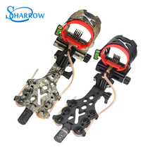 1pc 5pin Archery Compound Bow Sights Micro-Adjust HD Fiber Guard Micro LED Right Hand Shooting And Arrow Hunting Accessories