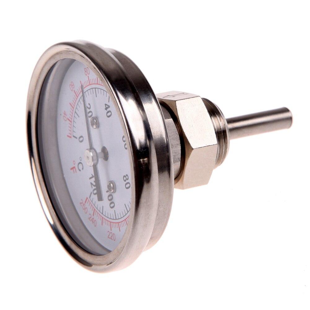 Acier inoxydable Analogique Thermomètre Jauge pour Four Grill BARBECUE Double Échelle à Lecture Instantanée Sonde Alimentaire Cuisson Nouvelle Viande Jauge