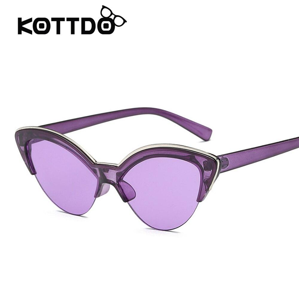 2018 Newest Sunglasses Women Cat Eye Women Sunglasses Vintage Sexy Purple Sun Glasses Shades Brand Designer Light Lenses UV400