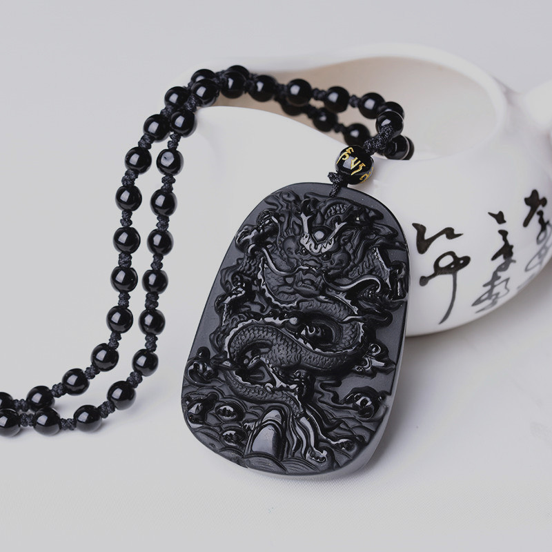 QIANXU Drop Shipping Black Obsidian Dragon Necklace Pendant Jade Pendant Jewelry Fine Jewelry QIANXU Drop Shipping Black Obsidian Dragon Necklace Pendant Jade Pendant Jewelry Fine Jewelry