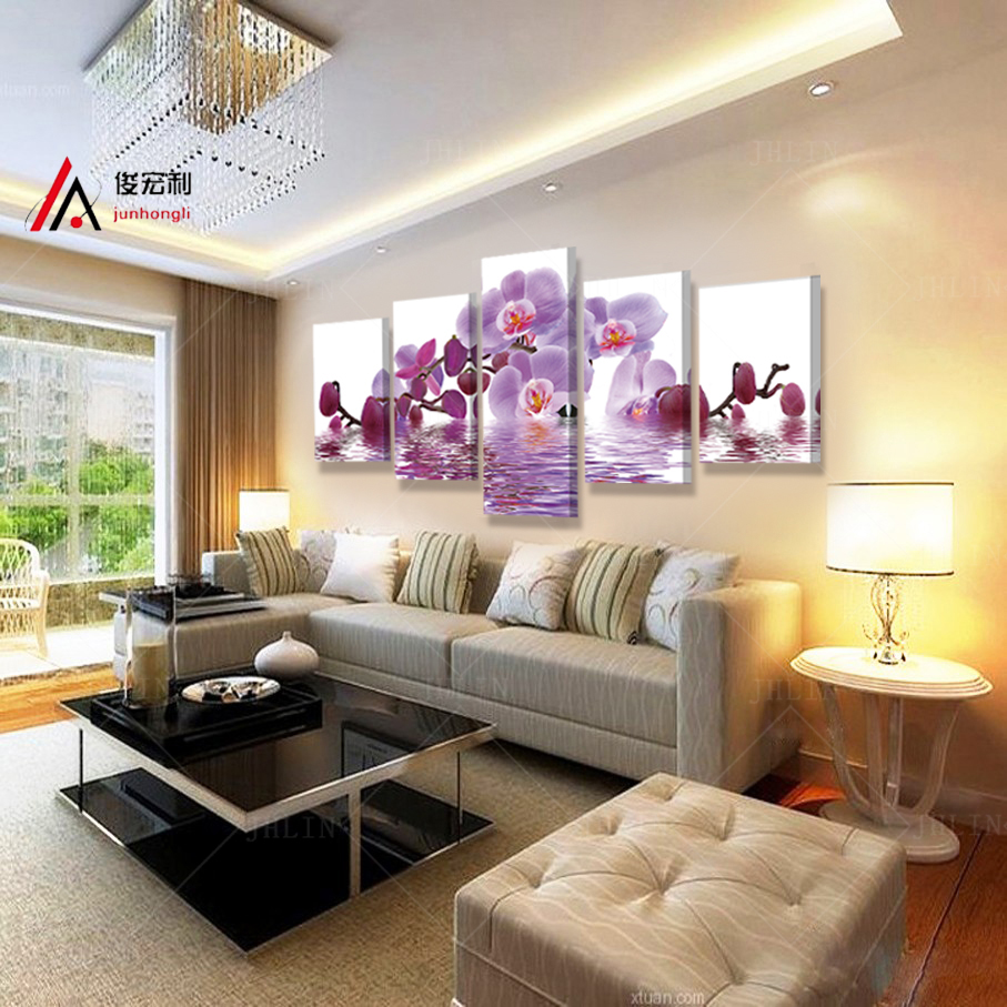 Aliexpress Buy Modular Picture Home Decoration Painting Printed Wall Art Purple Butterfly Photo For Living Room Mass Effect Modern Canvas Print From