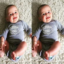 2017 Newborn Baby Infant Boys Girls Long Sleeve Bodysuit font b Jumpsuit b font Clothes