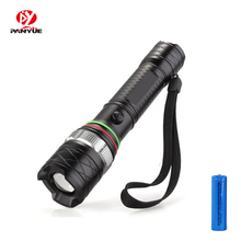 PANYUE Led Flashlight XML T6 Linterna Torch 1000 Lumens Outdoor Camping Powerful Led Flashlight Waterproof with 18650 battery panyue led rechargeable flashlight xml t6 torch 1000 lumens 18650 battery outdoor camping powerful led flashlight