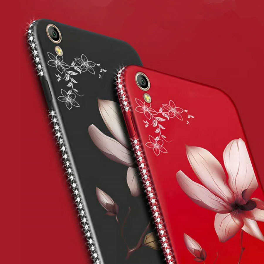 Цветочный силиконовый чехол для телефона s для Xiao mi 8 6X mi A1 5X Red mi S2 4X 5A 5 Plus Note 5A 5 Pro Чехол Блестящий Алмазный цветочный чехол