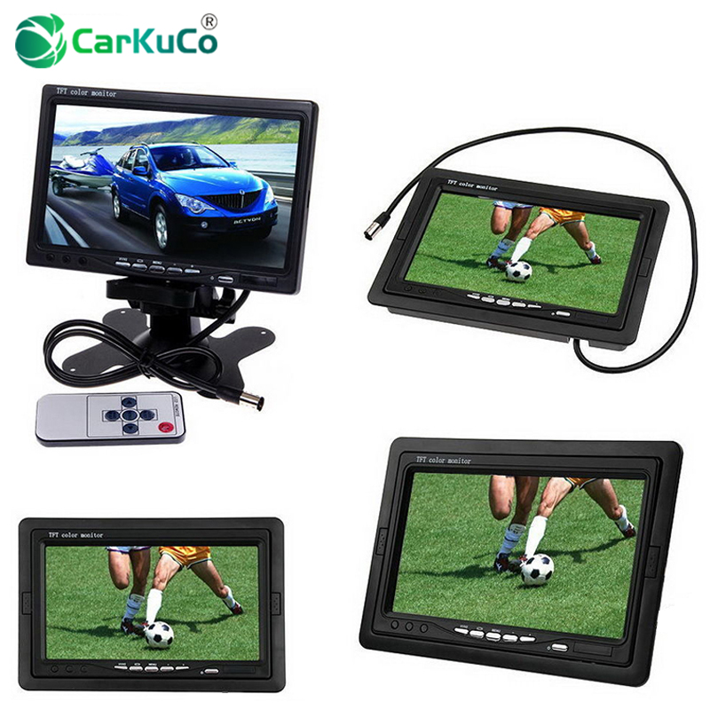 7 Inch TFT LCD Car Rear View Monitor DVD VCR for Reverse Backup Camera 7 Rearview Display Monitor Screen Auto Video Equipment 4 3 tft lcd car rear view reverse color camera monitor reversing dvd vcr cctv