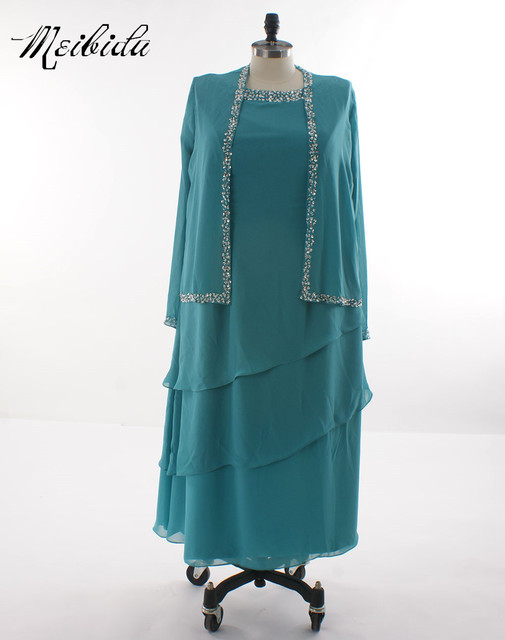 Real Pictures Sky Blue Mother of the Bride Dresses Short Sleeves ...