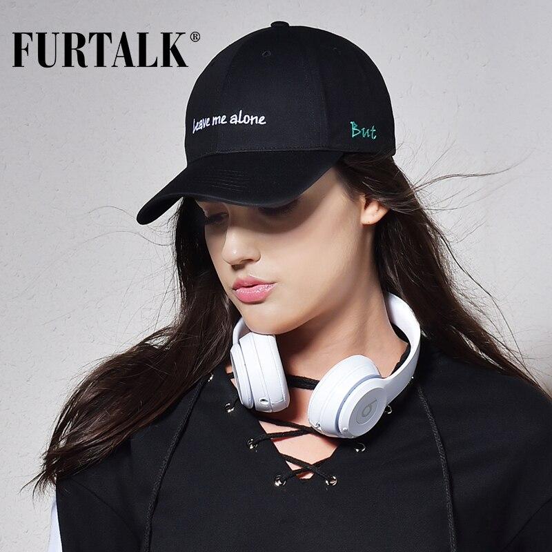 Prix pour FURTALK noir caps pour femmes et hommes casquette de baseball de mode marque d'été snapback caps