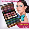 183 Combo Color maquillaje paleta Kit 168 sombras de ojos 6 colores bronceador 9 Color colorete maquillaje artista establecer envío gratis