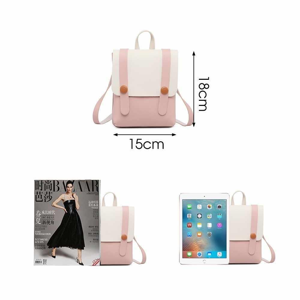 Herald Fashion Mini Ransel Wanita Tas Bahu Kulit Multi-Fungsi Kecil Permen Warna Sekolah Tas untuk Girls Mochila Bagpack