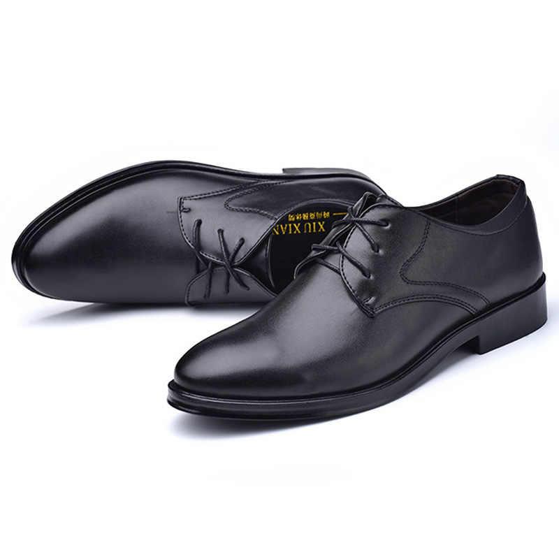 Thời Trang Mới Nam Trọng Nam Đầm Thương Hiệu Giày Nam Cao Cấp Giày Da Nam Cổ Điển Kinh Doanh Giày Công Sở Plus kích Thước 45