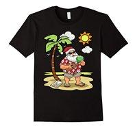 Гавайский Санта Клаус Солнечный пляжный отдых Рождество футболки мужской Best продавать футболки мужские футболки Мода 2017