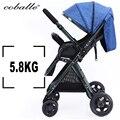 Высокая Пейзаж 175 градусов детская коляска ультра-свет может сидеть вниз раза двунаправленный четыре колеса шок амортизатора детские тележки