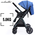 High Landscape 175degree baby stroller ultra-light can sit down fold bi-directional four-wheel shock absorber baby trolley
