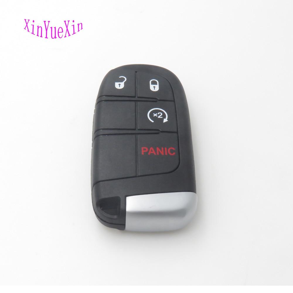 Xinyuexin Remoto Inteligente Caso Chave Do Carro Cobertura FOB Para Chrysler 300 para Dodge Durango Para Jeep Grand Cherokee 4 Botão SHELL Chave Em Branco