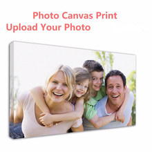 Customized photo Prints Painting Canvas Your Photo Turn Into On Canvas - Customized as Gallery Artwork Wrap For Wall Print Decor(China)