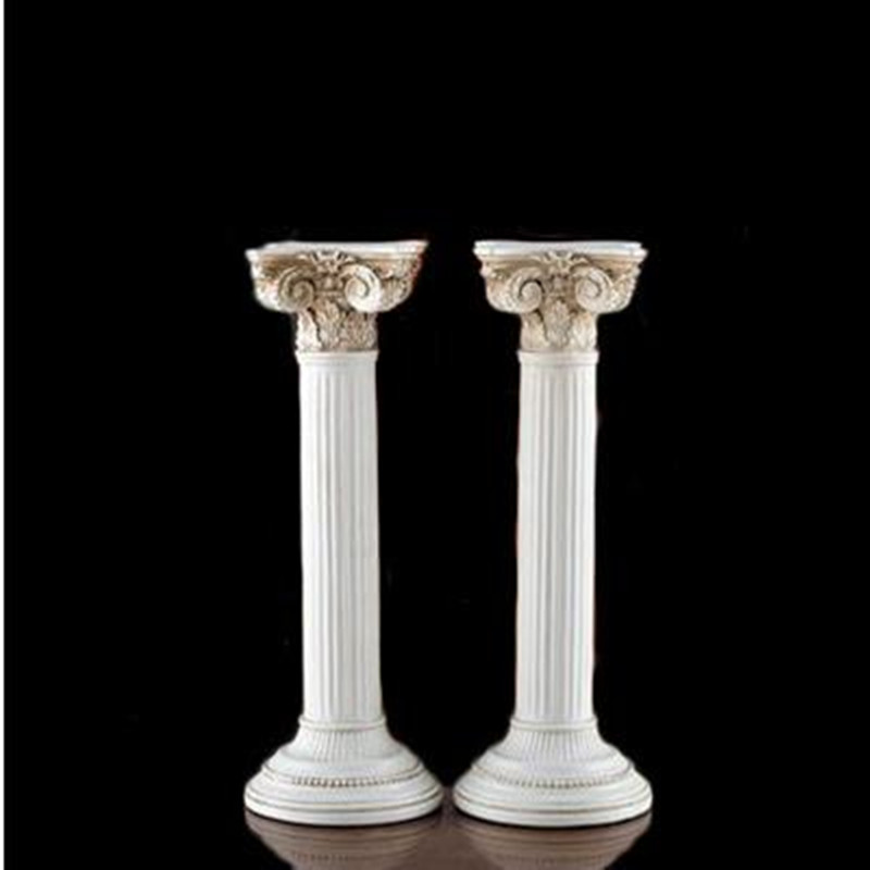 A pair of vintage Roman column crafts, ancient architectural models, home table decorations, exquisite souvenirsA pair of vintage Roman column crafts, ancient architectural models, home table decorations, exquisite souvenirs