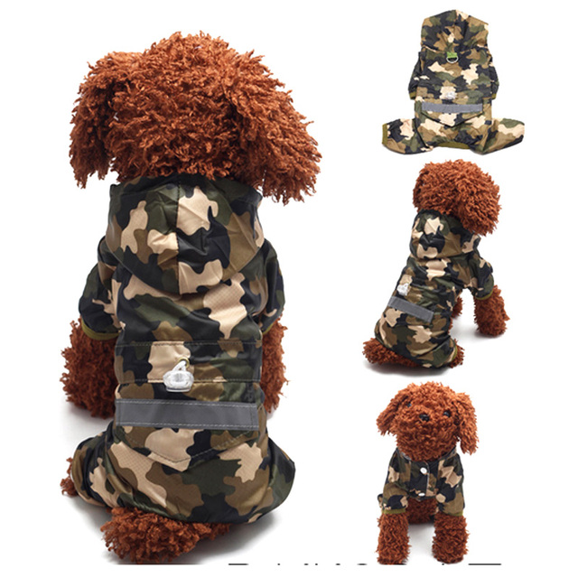 Brand New 4 Colors Pet Dog Rain Coat Fashion Dogs Puppy Raincoat Casual Waterproof Jacket Clothing XS-XXL Size Rainsuit