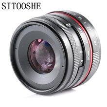 c709db55635b 50mm f1.8 APSC-C руководство премьер-Фокус объектив для Canon Nikon SONY