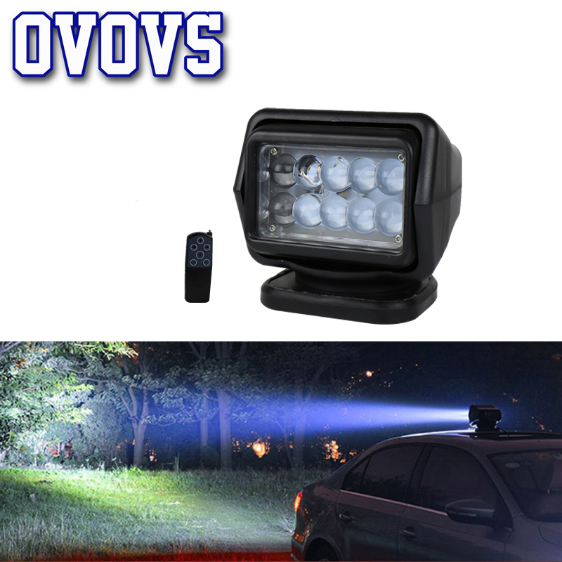 360 degree Rotate 7inch 4D Led Search Light Wireless 12 24v 50w Flashing spotlight for Off