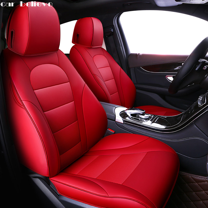 Car Believe Auto automobiles Cowhide leather Car seat cover For Mercedes-Benz C200 C180L W246 W203 W204 W203 Car accessories for mercedes benz c200 e260 e300 a s series ml350 glk brand leather car seat cover front and back complete set car cushion cover