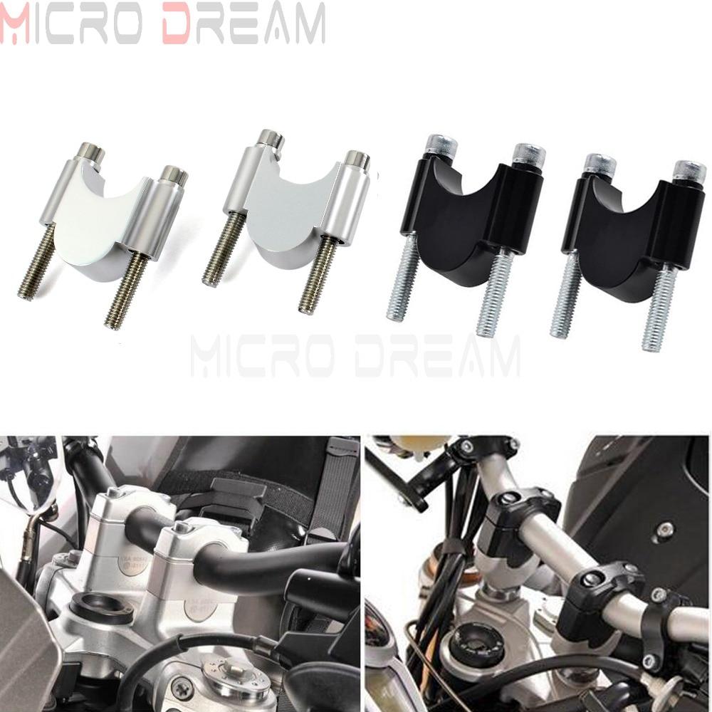 CNC Motorcycle Handlebar Riser Kit 7 8 or 1 1 8 Universal Bar Clamps 28 22mm