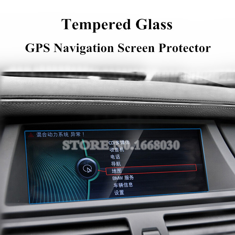 For BMW X5 X6 E70 E71 Tempered Glass GPS Navigation Screen Protector benks tempered glass for xiaomi 5 2 5d radians screen protector