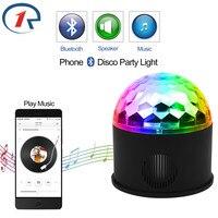 ZjRight À Distance RGB LED Cristal Magic Ball Stage de Lumière rotation Haut-Parleur Coloré ktv DJ disco cadeau Bluetooth Music control Lumières