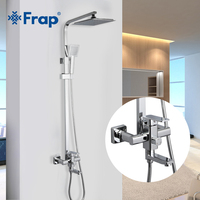 FRAP Shower System high quality bath shower mixer modern style set for bathroom chrome shower faucet taps with ABS shower head